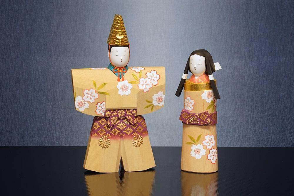 雛人形 一刀彫